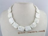 tqn027 25*17mm white wave-design turquoise necklace wholesale