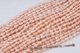 twin002 Wholesale 8*14mm peanut/twin pearl strand in pink color