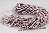 twin003 Wholesale 8*14mm nature purple peanut/twin pearl strand