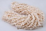 twin004 6*10mm white mid-drilled peanut/twin pearl strand on sale