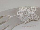wbr005 Wedding Bridal Fingerless Glove  Pearl Ring Lace Flower Bracelet