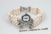 wbr270 Fashion freshwater potato pearl stretchy watch bracelet