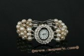wbr274 Handcraft freshwater rice pearl watch and bracelet