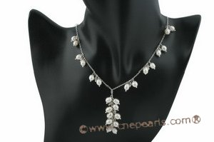 wn041 Fashionable sterling silver Rice pearl bridal jewelry set