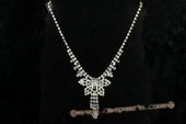 Wn058 Elegant Drop-Style  Rhinestone Bridal Necklace