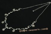Wn059 Gorgeous Zirconia Floral Drop wedding necklace