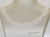 wn076  Handmade Lace Wedding Chocker Necklace with Freshwater Pearl