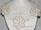 wn079  Handmade Lace Wedding  Necklace with Freshwater Pearl