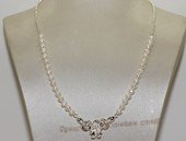 wn082 Freshwater Pearl Bridal Necklace Sterling Silver Wedding Jewelry