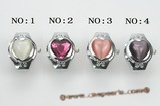 wr004  Heart watch face man made crystal ring watches