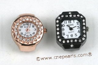 wr005 Fashionable design rhinestone ring watches