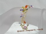 zbr004 Handmade 7.5inch flower design multi-color Zircon beads Bracelet