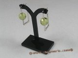 ZE005 12mm green ball zircon sterling silver studs earrings