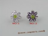 ZR010 Adjustable 30mm layers flower cluster flower zircons rings