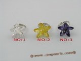 ZR011 Adjustable 25mm layers flower cluster flower design 18KGP zircons rings