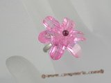 ZR013  Adjustable 30mm Flower cluster design CZ zircon 18KGP rings