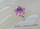 ZR016 Adjustable flower zircon ring jewelry