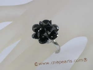 ZR017 18KGP Adjustable Flower cluster CZ zircon rings